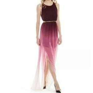 Dresses & Skirts - OMBRÉ SHEER HALTER BACKLESS SUMMER MAXI DRESS S/M